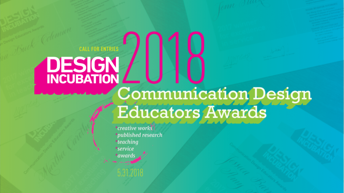 Call for Entries: Communication Design Educators Awards 2018