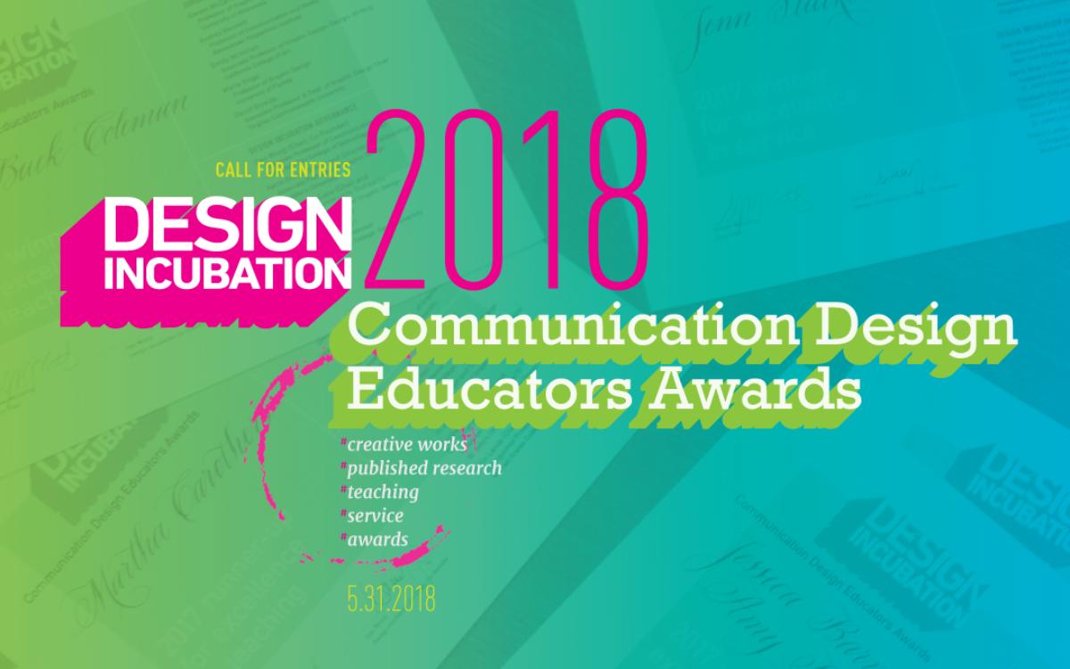 Call for Entries: Communication Design Educators Awards 2018