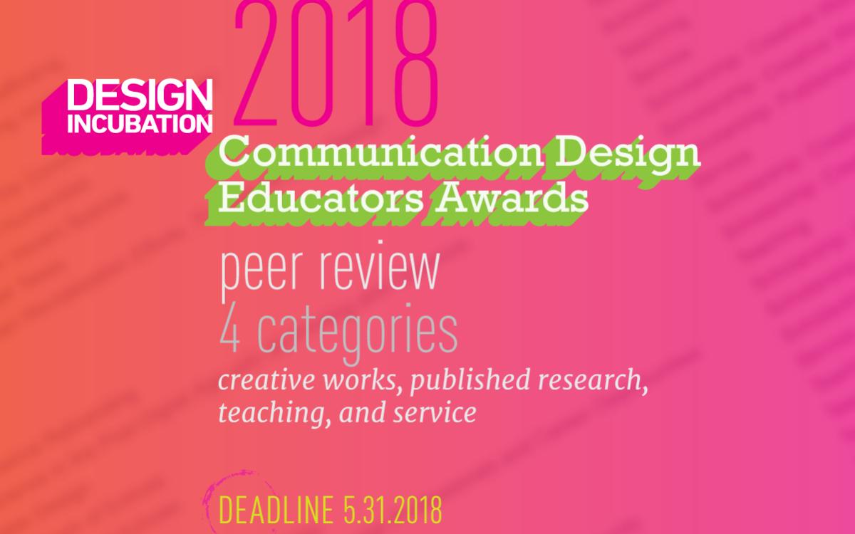 Communication Design Educators Awards 2018: Design Incubation