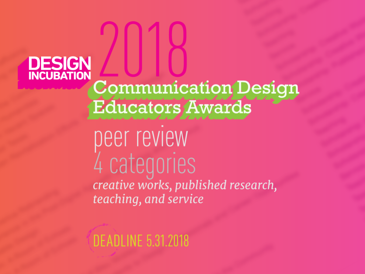 The Design Incubation Communication Design Awards 2018