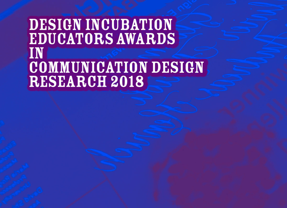 Announcement: Educators Communication Design Awards 2018