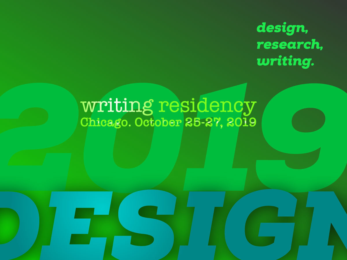 The Design Incubation Residency at Haddon Avenue Writing Institute 2019