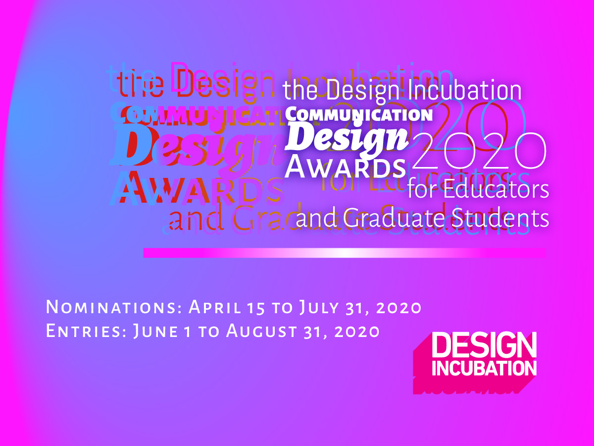 CFP: the 2020 Design Incubation Communication Design Awards