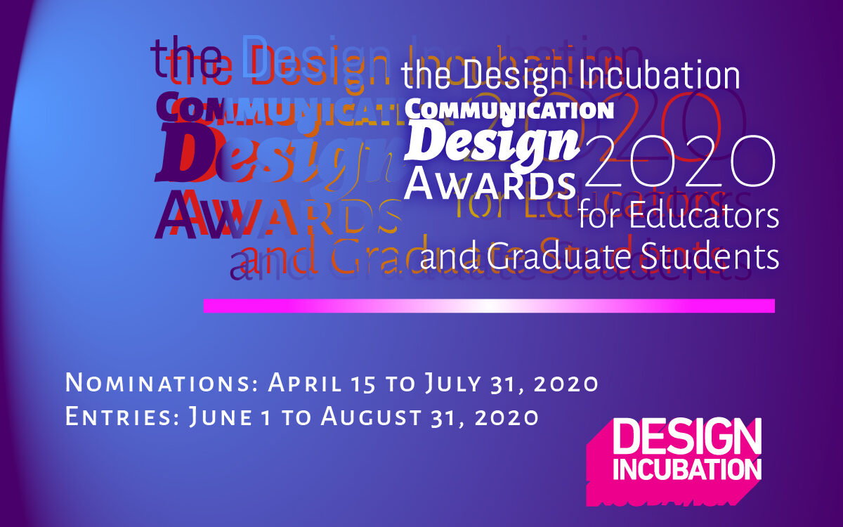 The 2020 Design Incubation Communication Design Awards