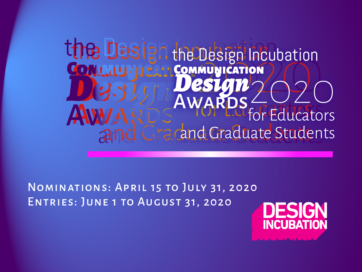 The 2020 Design Incubation Communication Design Awards
